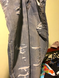 gray and white distressed jeans Richmond, 94804