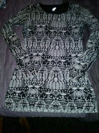 gray and black floral scoop-neck sleeveless dress Peterborough, K9H 6R5