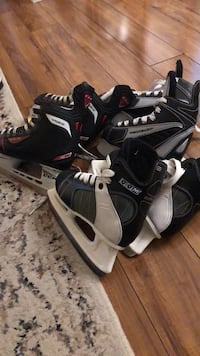 Like brand new skates used couple times only.$25 each pair. Sizes: 12/1/2 kids size Toronto, M1T 3S5
