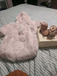 Infant girl UGGs and fur bunting suit