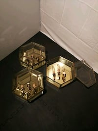 Brass Wall Hanging Lights set of 3