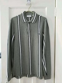 Lacoste Grey Long Sleeve Polo, Size 3 (Small) 538 km
