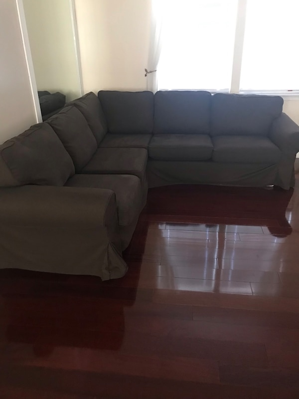 Ikea Brown and addition Tan cover 3 piece tufted sofa set 2
