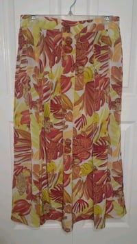XL Extra Large Women's Floral Midi A Line Skirt