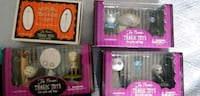 three assorted vinyl figures in boxes Mississauga, L5A 1Y1