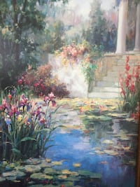 Beautiful framed print The Water Garden 科奎特兰