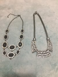 silver-colored beaded necklace and earrings Hull, J8X 4E2
