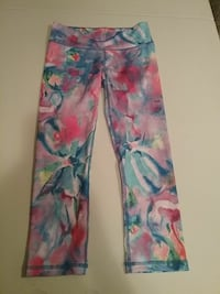 white and multicolored floral pants