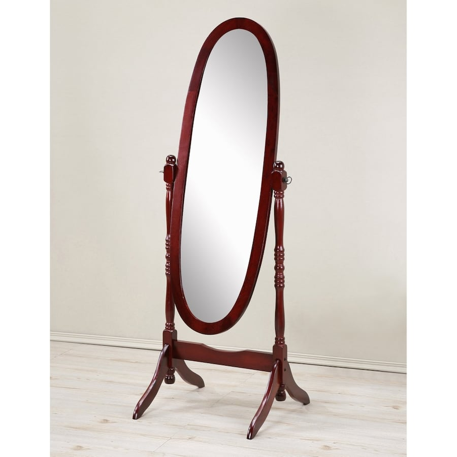 Roundhill Furniture Traditional Queen Anna Style Floor Cheval Mirror