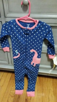 blue and white polka dot onesie Windsor, N8X 2M9