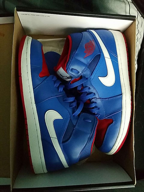 e8fd84023626b4 Used Air Jordan 1 Mid Game royal  gym red and wh for sale in New York -  letgo