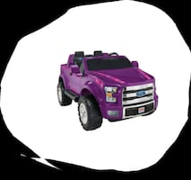 purple and black plastic toy car