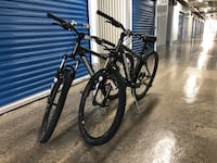 Two mountain bikes (Diamondback brand)