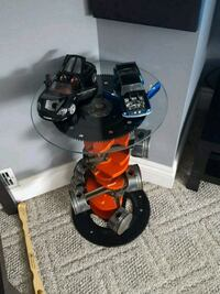 Chevy crankshaft side table...cars not included Hamilton