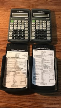 black and gray Texas Instruments TI-84 Plus