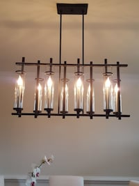 Chandelier 8 light candle style California, 20619