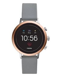 Fossil smart watch-rose gold with gray sport band Northville, 48167