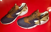 Chaussures huarache denim-marron