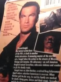 VHS STEVEN SEAGAL CLASSIC MARKED FOR DEATH 1989 OUT OF PRINT RARE / DOLBY SURROUND / MONO COMPATIBLE Antioch