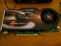 black and green EVBA e-GeForce 8800 GT graphics card 460 mi
