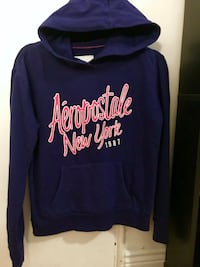 ROYAL BLUE WITH HOT PINK ACCENT AEROPOSTALE PULLOVER HOODIE Colorado Springs, 80907