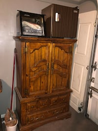 brown wooden cabinet with shelf North Las Vegas, 89032