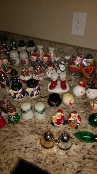 Wide Variety of Xmas vintage and rare salt and pepper collectibles