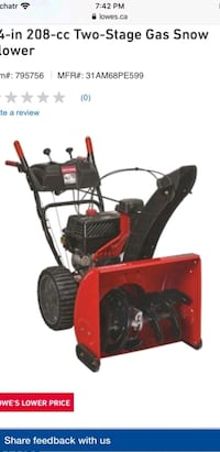 2 stage snowblower
