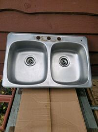 Stainless double sink Beaumont, T4X