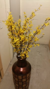 Yellow faux Five Forsythia branch from Pier one import New York, 11109