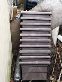 Brown Plant holder to go over railing on decks Toronto, M6E 3C9