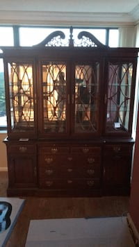 brown wooden china buffet hutch Alexandria, 22311