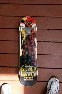 red, black, and yellow skateboard Coquitlam, V3J 3T5