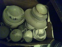 Assorted China dishware, incomplete sets