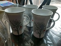 Set of 4 new, never used coffee mugs.  Size: Large Ajax, L1Z