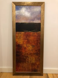 brown and purple abstract painting with brown wooden rame Fremont, 94539