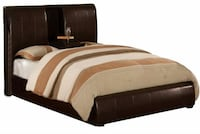 brown and white striped fabric comforter Windsor, 53598