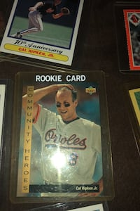 Cal Ripken Memorabilia and Random Orioles players