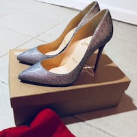Christian Louboutin- PIGALLE FOLLIES 100 glittler mini degrade DRAGE Size 36.5 Passaic, 07055