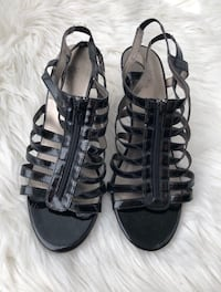 BLACK HIGH HEELS SHOES - SANDALES NOIRES À TALONS HAUTS