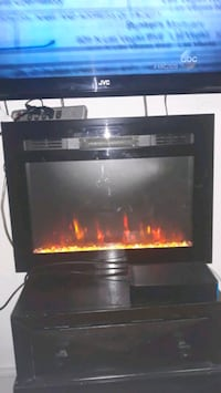 Electric fire place with heater
