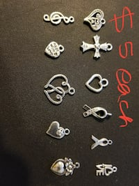 assorted silver-colored pendant lot Abilene, 79602
