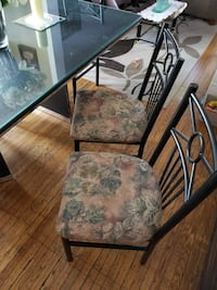 Black framed gray floral padded armchair Ontario, M6N 4T4