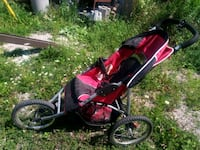 Red and black jogging stroller Orangeville, L9W