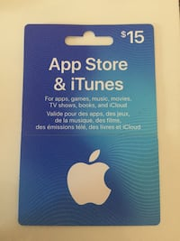 $15 itunes gift card Mississauga, L5R 3Z6