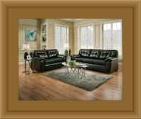 Black bonded sofa and loveseat Woodbridge, 22191