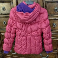 Pink and purple warm zip-up bubble jacket 35 mi
