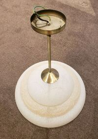 One brass and frosted glass pendant light.  Pakenham, 3810