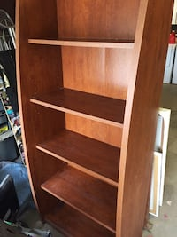Bookcase wood laminate in excellent condition. $40