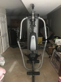 """Gold's """"At-Home"""" Gym. Platinum Series. Comes with all accessories including preacher curl pad and pull down bar as well as a Tricep rope which was purchased after market. I'm moving and refuse to take this much added weight with me! Glen Burnie, 21060"""